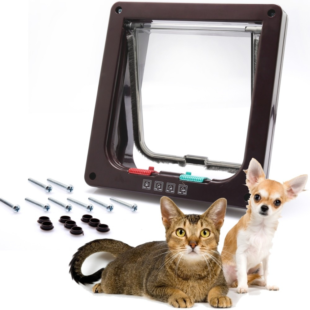 Cat door with electronic collar