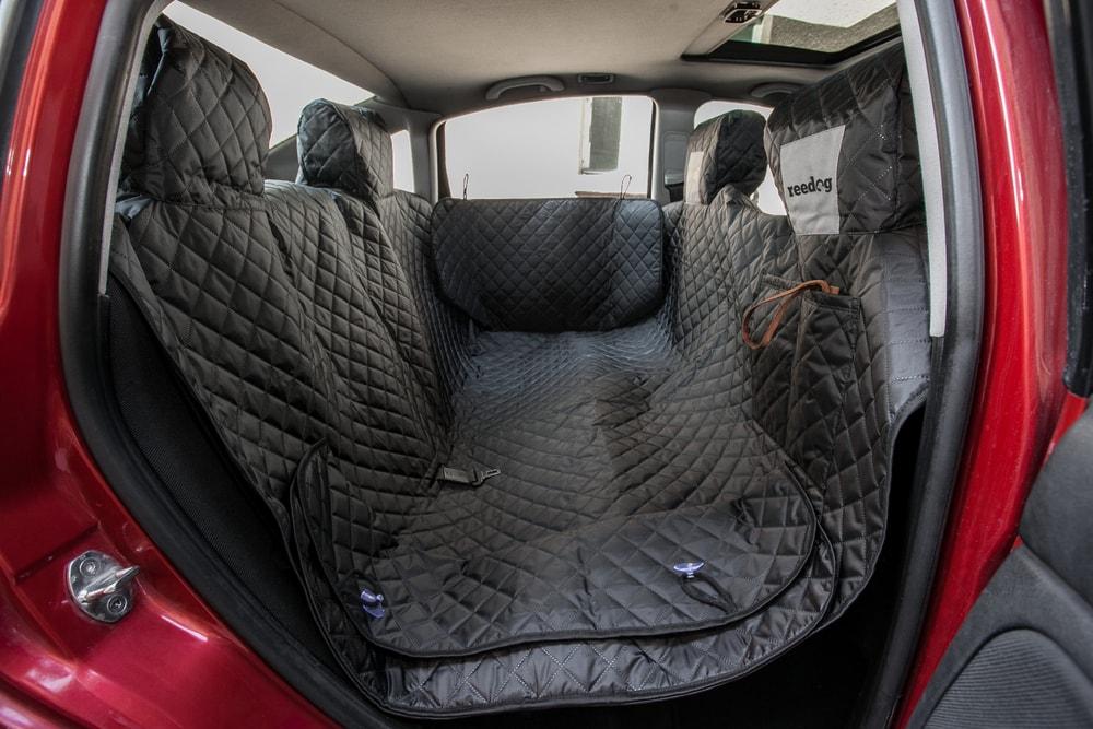 Reedog ochranný potah do auta pro psa na zip + boky - černý + 30 dní na vyzkoušení