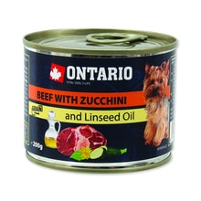 Dose ONTARIO Dog Mini Beef, Zucchini, Dandelion and Linseed Oil 200g