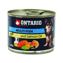 Konzerva ONTARIO Dog Mini Multi Fish and Salmon Oil 200g