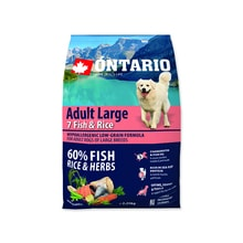 ONTARIO Dog Adult Large Fish & Rice 2,25kg