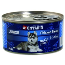 Konzerva ONTARIO Junior Chicken Pieces + Cartilage 200g