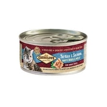Carnilove White konz Mus Meat Turkey&Salmon Cats 100g