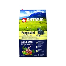 ONTARIO Puppy Mini Lamb & Rice 6,5kg