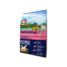 ONTARIO Dog Large Weight Control Turkey & Potatoes & Herbs 2,25kg
