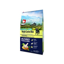 ONTARIO Dog Mini Weight Control Turkey & Potatoes 6,5kg