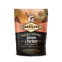 Carnilove Dog Salmon & Turkey for LB Puppies NEW 1,5kg
