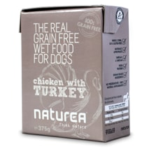 Naturea GF dog mokra karma - Chicken, Turkey 375g