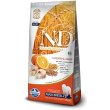 N&D LG DOG Adult Maxi Codfish & Orange 12kg