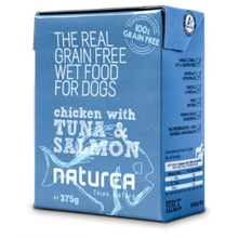 Naturea GF dog mokra - Chicken, Tuna, Salmon 375g