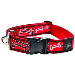 Halsband ROGZ Fancy Dress Red Bone XXL