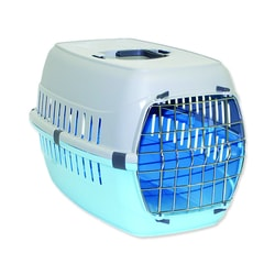 Kiste DOG FANTASY Carrier Blau 58 cm