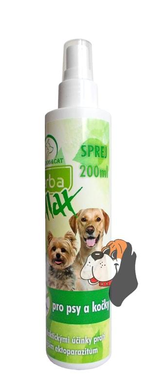 Repelentní sprej pro psy a kočky Herba Max 200ml