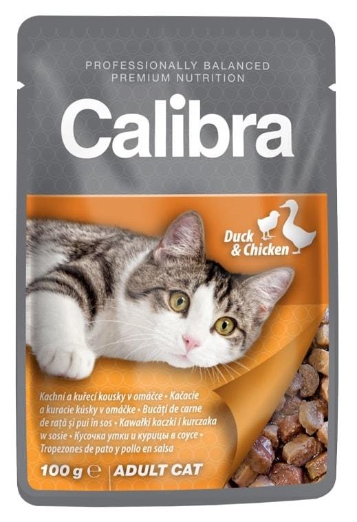 Calibra Cat  apsa kachní a kuřecí v omáčce 100g