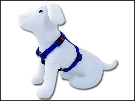 Postroj DOG FANTASY Classic modrý 65-100 cm