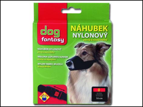 Náhubek DOG FANTASY nylonový černý č.0