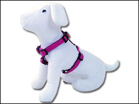 Postroj DOG FANTASY Classic růžový 65-100 cm
