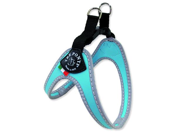 Postroj TRE PONTI reflexní do 4 kg světle modrý