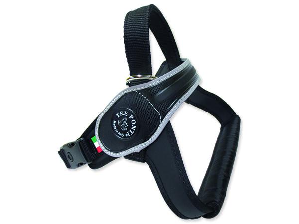 Postroj TRE PONTI reflexní od 40 do 60 kg černý