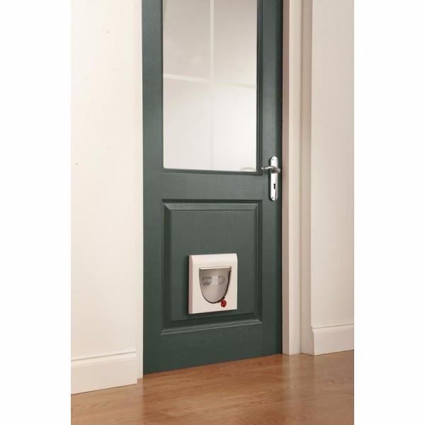 Staywell 174 Manual 4 Way Locking Pet Door White Doors For