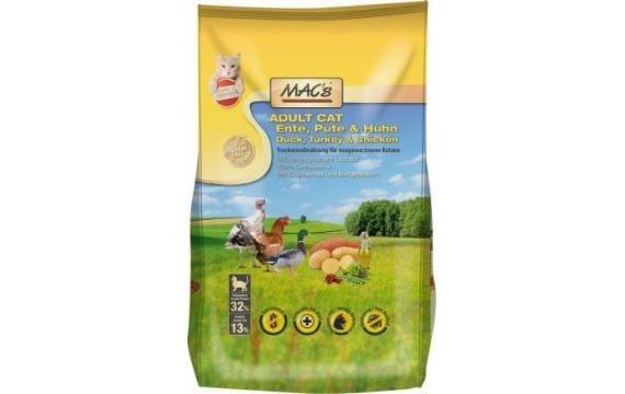 Dry MACs Cat DOSPĚLÁ KOČKA - KACHNA, KRŮTA A KUŘE 7 kg