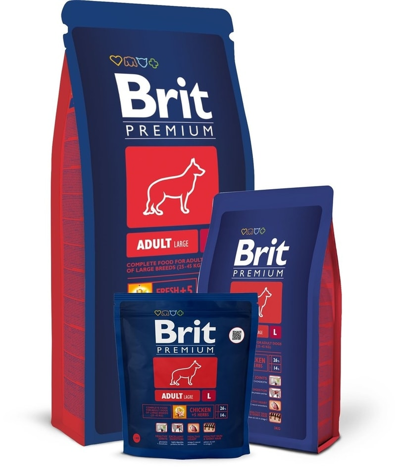 Brit Premium Dog Adult L 15+3kg