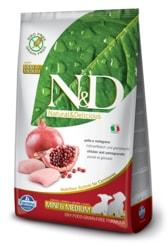 N&D GF DOG Puppy S/M Chicken & Pomegranate 12kg