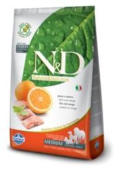 N&D GF DOG Adult Fish & Orange 12kg