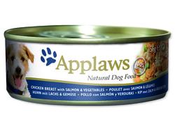 Konzerva APPLAWS Dog Chicken, Salmon & Rice 156g