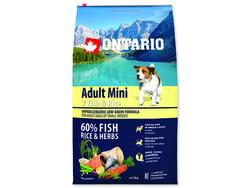 ONTARIO Dog Adult Mini Fish & Rice 6,5kg