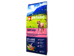 ONTARIO Dog Adult Large Lamb & Rice & Turkey 12kg