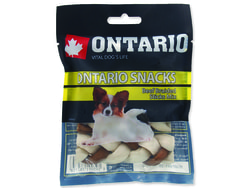 Snack ONTARIO Dog Rawhide Braided Stick Mix 7,5 cm 4ks