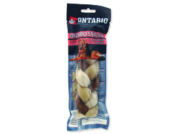Snack ONTARIO Dog Rawhide Braided Stick Mix 17,5 cm
