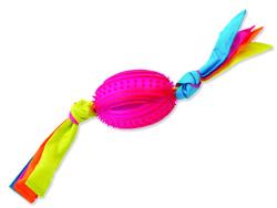 Přetahovadlo DOG FANTASY ovál gumové s látkou červené 48 cm