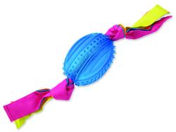 Přetahovadlo DOG FANTASY ovál gumové s látkou modré 48 cm