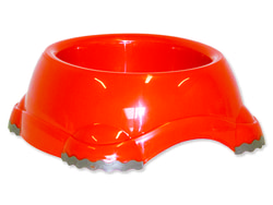 Miska DOG FANTASY plastová protiskluzová oranžová 20 cm 735ml