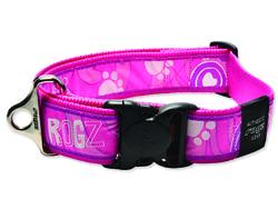 Obojek ROGZ Fancy Dress Pink Paw XXL