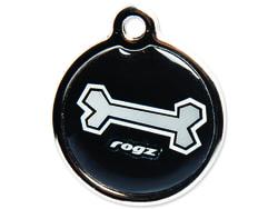 Známka ROGZ Metal Black Bone kovová L