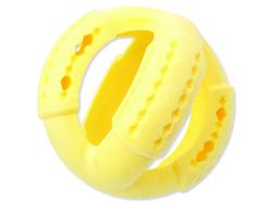 Hračka DOG FANTASY FTPR míč na pamlsky žlutý 11 cm