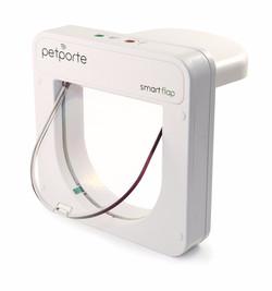 Smart dvířka PetPorte, bíle, na mikročip
