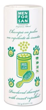 Suchý šampon Menforsan s repelentem pro domácí mazlíčky