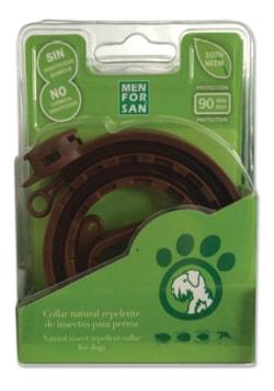 Přírodní obojek Menforsan pro psy, odpuzující klíšťata a blechy