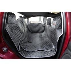 Reedog ochranný potah do auta pro psy na zip + boky - šedý - XL