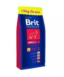 Brit Premium Dog Adult L 15+3kg